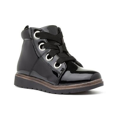 Brooke Girls Black Lace Up Ankle Boot