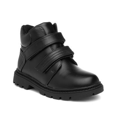 Boys Black Easy Fasten Ankle Boot