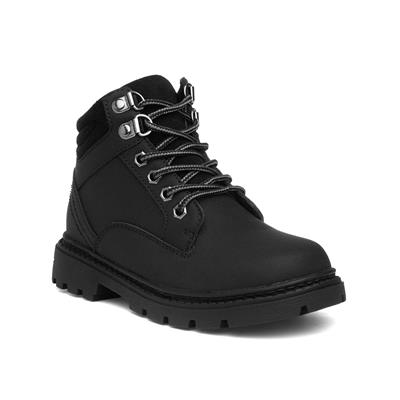 Kids Lace Up Ankle Boot in Black