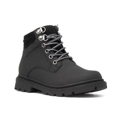 Kids Black Lace Up Ankle Boot
