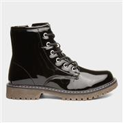 Lilley Girls Black Patent Zip Up Ankle Boot (Click For Details)