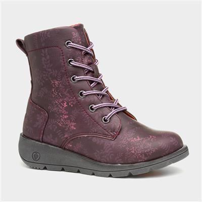 Ariana Girls Lace Up Ankle Boot