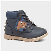 Buckle My Shoe Dino Granti Kids Navy Ankle Boot (Click For Details)
