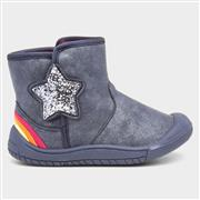 Buckle My Shoe Chelly Girls Blue Star Boot (Click For Details)