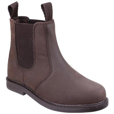 Kids Camberwell Leather Boot in Brown