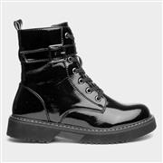Chatterbox Candy Girls Black Patent Ankle Boot (Click For Details)