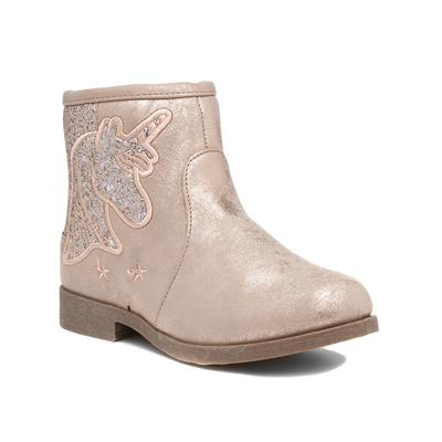 Kids Pink Unicorn Ankle Boot