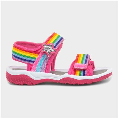 Girls Rainbow Stripe Sandal