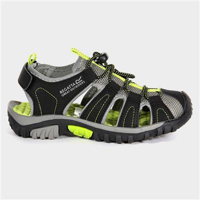 Westshore Jnr Boys Black & Lime Sandal