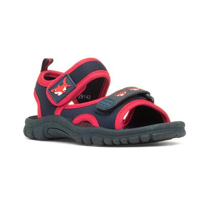 Kids Navy & Red Easy Fasten Sandal