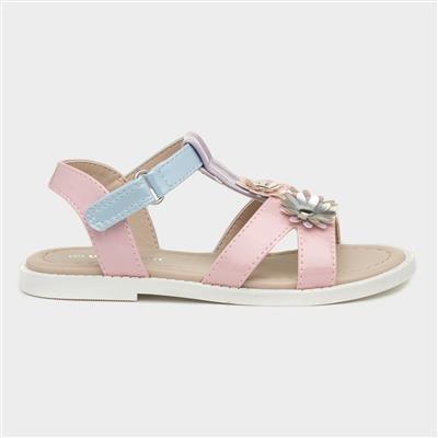 Girls Pastel Floral Sandal