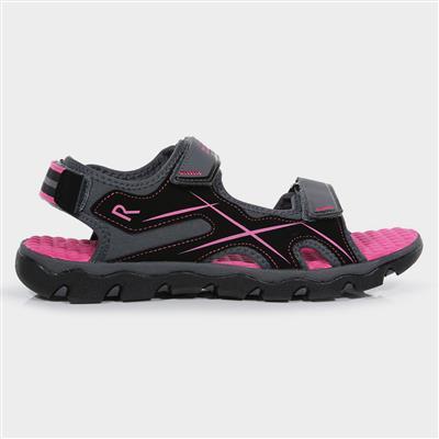 Kota Drift Jnr Girls Grey Sports Sandal