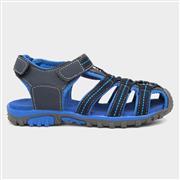 Red Fish Boys Blue Easy Fasten Sandal (Click For Details)