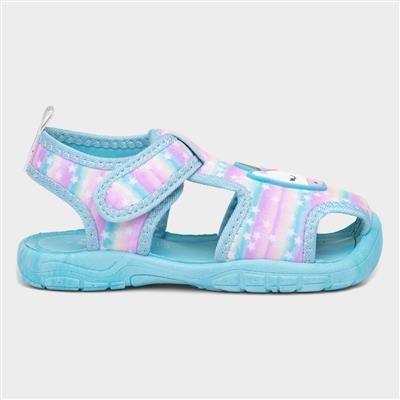 Kids Unicorn Aqua Sandal