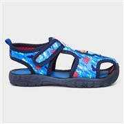 Buckle My Shoe Kids Shark Aqua Shoe in Blue (Click For Details)