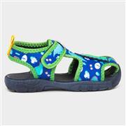 Buckle My Shoe Kids Dinosaur Aqua Sandal (Click For Details)