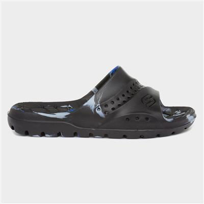 Hogan Aqua Kids Black Slider Sandal