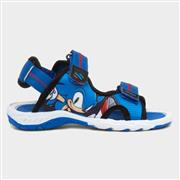 Sonic The Hedgehog Kids Blue Touch Fasten Sandal (Click For Details)