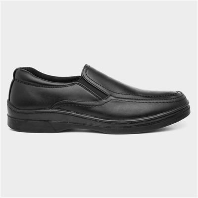 Mens Side Twin Gusset Shoe in Black