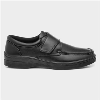 Mens Casual Easy Fasten Shoe In Black