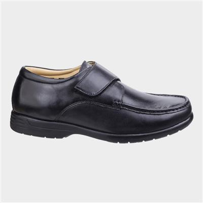 Mens Fred Black Leather Shoe