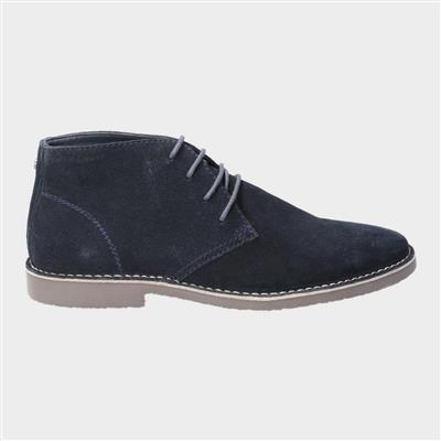 Freddie Lace Up Desert Boot in Blue