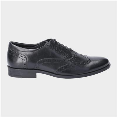 Oaken Brogue Lace Up Shoe in Black