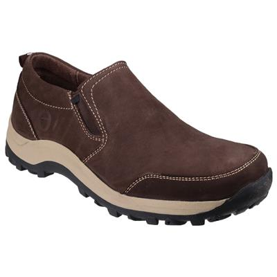 Mens Sheepscombe Slip On Shoe in Brown