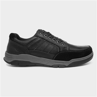 Finley Mens Black Leather Shoes