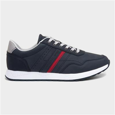 Mens Lace Up Casual Shoe in Navy