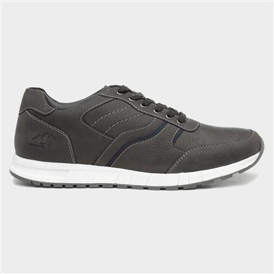 Mens Lace Up Shoe in Grey