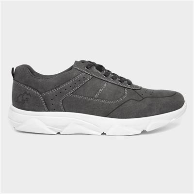 Mens Grey Lace Up Casual Shoe