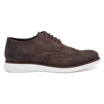 Mens Lace Up Brogue in Brown