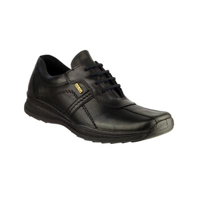 Mens Cam Lace Up Leather Shoe in Black