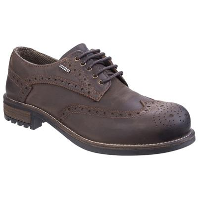 Mens Oxford Leather Shoe in Brown