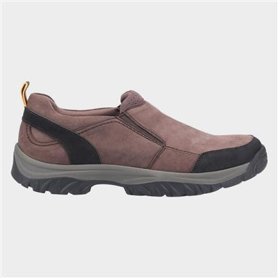 Mens Boxwell Leather Hiking Shoe in Brown