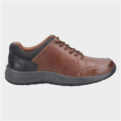 Mens Rollright Lace Up Tan Leather Shoe