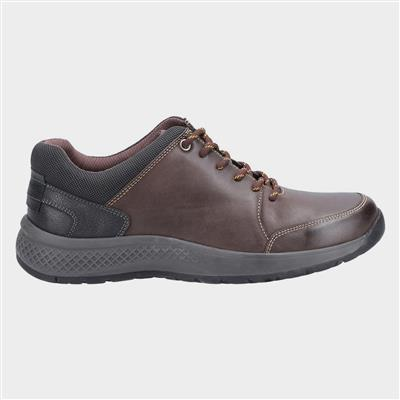 Mens Rollright Brown Leather Lace Up Shoe