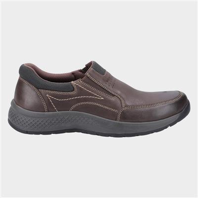 Mens Churchill Brown Leather Slip On Shoe