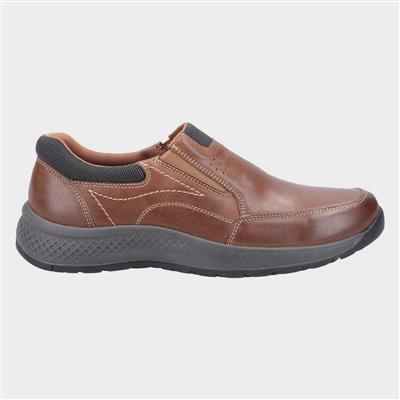 Mens Churchill Tan Slip On Leather Shoe