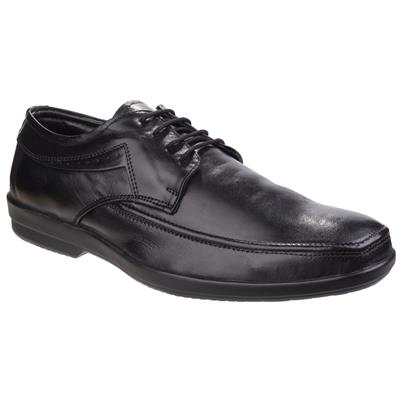 Mens Dave Black Leather Shoe