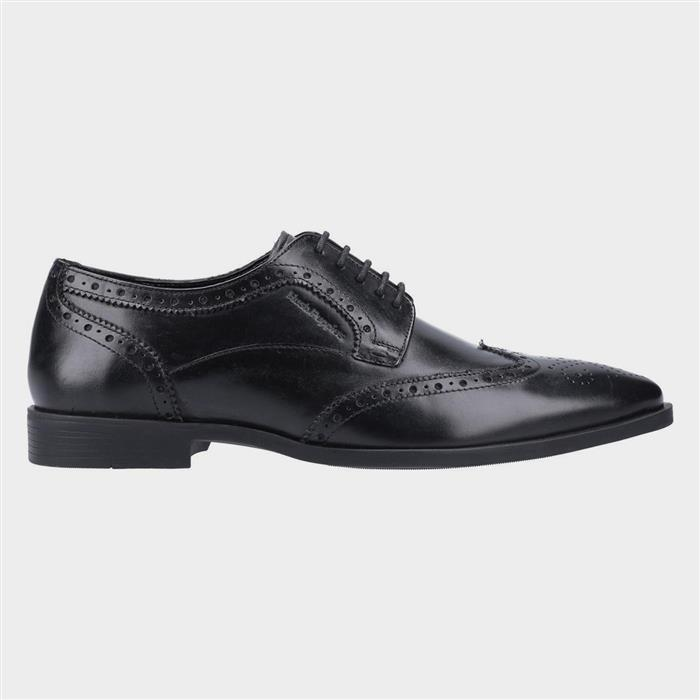 Men's Footwear Hush Puppies Brace Mens Lace Up Brogue in Black