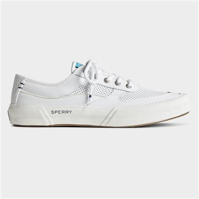 Mens Soletide Lace Up Leather Shoe in White