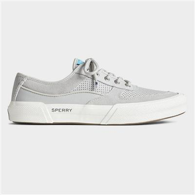 Mens Soletide Lace Up Leather Shoe in Grey