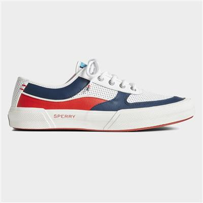 Mens Soletide Lace Leather Shoe in White