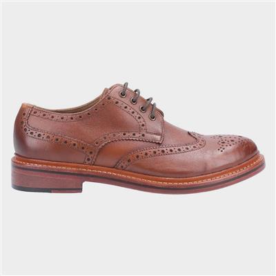 Quenington Mens Brown Leather Brogue