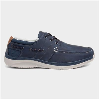Mens Casual Lace Up Shoe in Navy