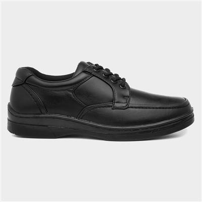 Mens Black Lace Up Shoe