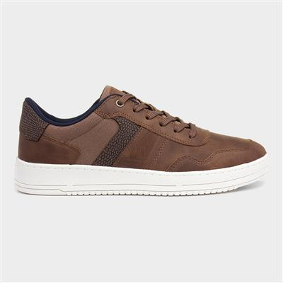 Mens Brown Lace Up Casual Shoe
