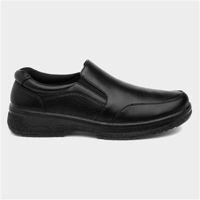 Mens Black Slip On Shoe